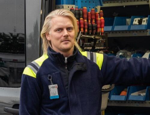 Huoltoteknikko Ville Varjonen pysyy liikkeessä sekä töissä että vapaalla